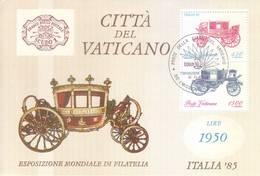 Vaticano 1985 - Expo Mondiale Di Filatelia, Foglietto Con Annullo FDC - Vaticano (Ciudad Del)