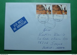 2015 Kosovo Airmail Letter Sent From PRIZREN To STRPCE, Stamp: SINGER, Rare - Kosovo