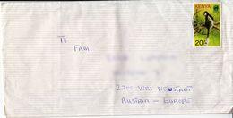 BM572 Kenya Long Envelope Air Mail, Kenya - Austria, Poststempel Kisumu - Kenya (1963-...)