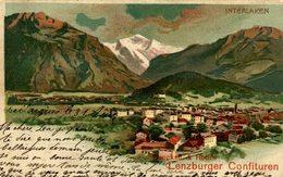 INTERLAKEN HENCKELL ROTH'S LENZBURGER CONFITUREN  1904 - Publicité