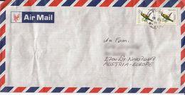 BM573 Kenya Long Envelope Air Mail, Kenya - Austria 1996, Poststempel Kisumu - Kenya (1963-...)