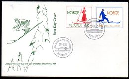 NORWAY 1975 Home Of Skiing On FDC.  Michel 695-96 - FDC
