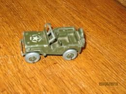 """Jeu - Jouet GASKY En Zamak - Jeep US Army """" SEP - TOY """" - LIEGE - Voiture Miniature - Guerre 40/45 - Jouets Anciens"""