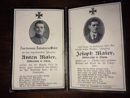 Sterbebild Wk1 Bidprentje Avis Décès Deathcard SARRALTROFF 20. August 1914 + PERONNE GIVENCHY St. Laurent Blangy Altheim - 1914-18