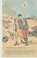 C.P.A. - ÉPISODES DE LA GUERRE 1914 - E. M. 102 - C. TERTIAUX - SEPTEMBRE 1914 - BELLE CONDUITE D'UN ENFANT DE DOUZE ANS - Guerra 1914-18