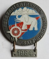 Broche Insigne Moto Elefantentreffen Salzburgring 1984 Motorrad Wintertreffen Regroupement De Motos Souval Wien Autriche - Motos