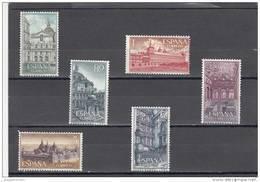 España Nº 1382 Al 1387 - 1961-70 Unused Stamps