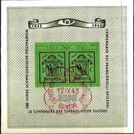 """Schweiz Suisse 1943: """"Double-Genève* Zu WIII 18 Mi Block 10 Yv BF 10  Premier Jour GENÈVE 17.IX.43 GEPH (Zu CHF 60.00) - Bloques & Hojas"""