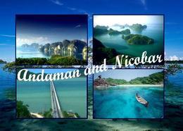 Andaman And Nicobar Islands Multiview New Postcard Indien AK - Inde