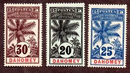 Dahomey N°23 à 25 N* TB Cote 64 Euros !!! - Dahomey (1899-1944)