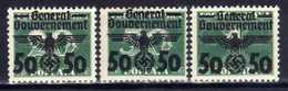 Generalgouvernement 1940 Mi 35; 38-39 **/*/** [200519XXVII] - Occupation 1938-45