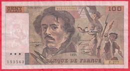 """100 Francs""""Delacroix"""" 1995 ---F/TTB---Série E.277 N°153562 (TRES RARE) PEU REPERTORIE SUR LES COMPTAGES NUMISMATIQUES - 1962-1997 ''Francs''"""