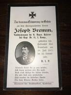 Sterbebild Wk1 Bidprentje Avis Décès Deathcard RIR15 10. Juli 1915 Aus Saalhaupt - 1914-18