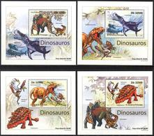 A{008} Sao Tome & Principe 2011 Dinosaurs 4 S/S Deluxe MNH** - Sao Tome And Principe