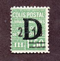 France Colis N°139 N* TB Cote 450 Euros !!!RARE - Colis Postaux