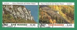 San Marino 1999  Mi.Nr. 1832 / 1833 , EUROPA CEPT  Natur- Und Nationalparks -  Gestempelt / Used / (o) - Europa-CEPT
