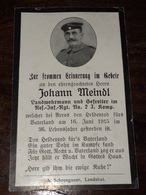 Sterbebild Wk1 Bidprentje Avis Décès Deathcard RIR2 ARRAS 16. Juni 1915 - 1914-18