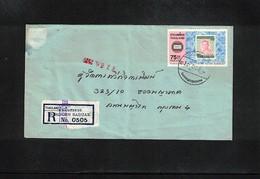 Thailand Interesting Airmail Registered Letter - Thailand