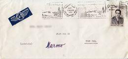BM584 Marokko Long Envelope Air Mail, Casablanca - Vienna/Wien, 1963, Rückseite Beschädigt - Morocco (1956-...)