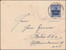 Zensur Militärverwaltung Rumänien 6 Germania EF Auf Brief BUKAREST 31.12.17 - Occupazione 1914 – 18