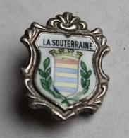 Ancienne Broche Insigne La Souterraine Blason Armoirie - Obj. 'Souvenir De'