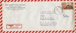 BM588 Türkei Long Envelope Air Mail, Ankara - Vienna/Wien, 1963 - 1921-... Republic