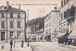 CPA   Cuire Et Calluire Lyon (69)  Grande Rue St Clair Et Place Du Petit Versailles  Café Catelan    5393 - Caluire Et Cuire