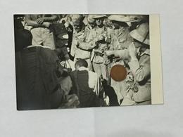 WW2 AFRICA FOTO DI GRUPPO SOLDATI DIVISA COPRICAPO COLONIALE AOI . - Guerra, Militari