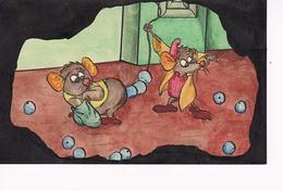 Cendrillon Peint Main Les Souris - Fairy Tales, Popular Stories & Legends