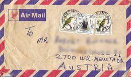 BM600 Kenya Envelope Air Mail, Kisumu - Wiener Neustadt, 1996, Linke Untere Ecke Leicht Beschädigt - Kenya (1963-...)