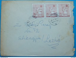 1992 COVER Sent FROM SHKODRA TO LEZHA. - Albania