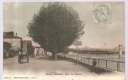 CPA Givors (69) Quai Du Château (Animée) Ecrite En 1908 - Givors