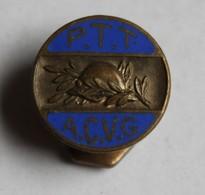 Ancien Insigne De Boutonnière émaillé PTT ACVG Association Des PTT Anciens Combattants Et Victimes De Guerre 14-18 WWI - Insigne & Ordelinten