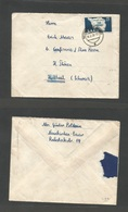 Sarre. 1949 (16 Feb) Neunkirchen - Switzerland, Huttwil. Fkd Env 25 F., Cds. Fine + Dest. - Unclassified