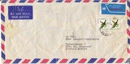BM604 Kenya Long Envelope Air Mail, Kisumu - Wiener Neustadt, 1994, Animals, Vignette Kenya Airways - Kenya (1963-...)