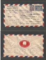 Airmails - World. 1931 (Nov 28) First National Flight. Colon, Panama. Air Registered Multifkd Envelope. - Non Classés