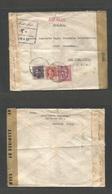 IRAQ. 1944 (2 Jan) Baghdad - USA, NYC. Censored Multifkd Envelope + Censor Cachet. Transatlantic Routing. Fine. - Iraq