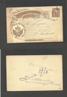 SALVADOR, EL. 1897 (1 Enero) Libertad - Salvador. Local 2c Brown Stat Card. - El Salvador