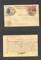 MEXICO - Stationery. 1939 (13 Dec) DF - Germany, Thalheim (8 April 40) 4c Red/yellowish Stat Card + 2 Adtls, Cds + Briti - Mexico