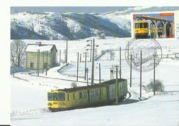Pyrenees Orientales Carte Maximun   Timbre 1 Err   Le Train Jaune - Cartes-Maximum