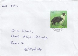GOOD MALTA Postal Cover To ESTONIA 2019 - Good Stamped: Dog - Malta