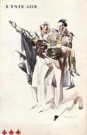 BELGIQUE - Croix-Rouge - L'Entr'aide - Illustration Signée De Massonet. - Red Cross
