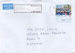 GOOD SERBIA Postal Cover To ESTONIA 2019 - Good Stamped: Waterball - Serbia