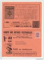 Bulletin Mensuel Philatélique 1961 (double Feuille) - Beau Document - Typo Precancels 1951-80 (Figure On Lion)