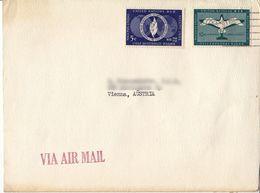 BM610 Envelope Air Mail, UNO New York - Vienna/Wien, 1952 - Lettres & Documents