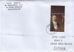 GOOD POLAND Postal Cover To ESTONIA 2019 - Good Stamped: Trampczynski - 1944-.... Republic