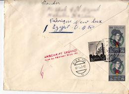 BM612 Envelope Air Mail, Egypt/Ägypten - Vienna/Wien, 1963, Mehrfach Frankiert - Egypt