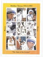 Bhutan 1997 Mother Teresa Sheet MNH - Bhoutan