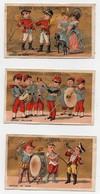 CHROMO Dorée Saintoin Frères Orléans Enfants Musiciens Musique De Foire Musique Militaire Musique De Chasse (3 Chromos) - Unclassified