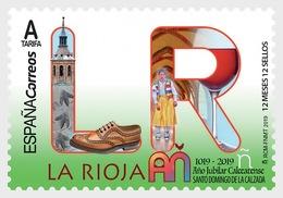 H01 Spain 2018 12 Months, 12 Stamps - La Rioja MNH ** Postfrisch - 1931-Heute: 2. Rep. - ... Juan Carlos I
